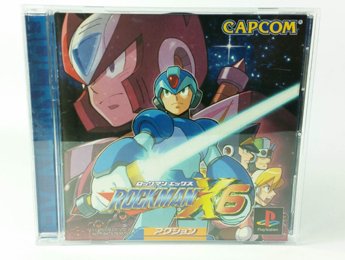 rockman x6 / mega man x6 ps1 playstation 1 japonés cib