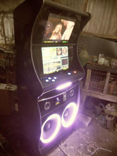 rockola 2 pantallas 24  2 parlante 15  600w rms 11000w pmpo