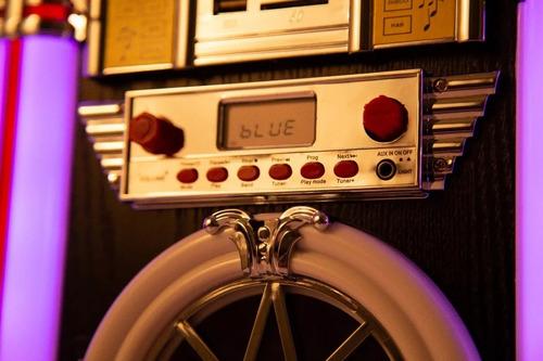 rockola kelyx jukebox retro bluetooth luz led radio am fm