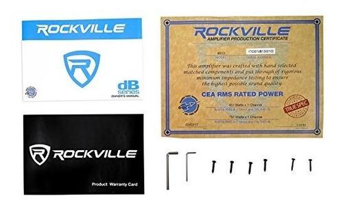 rockville db13 3000 watt peak /750w rms @ 2 ohm amplificador