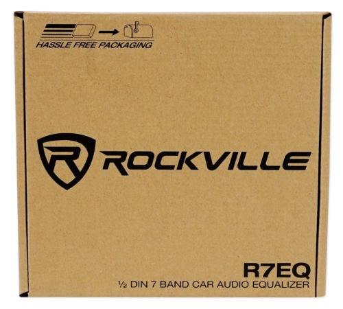 rockville r7eq 1/2 din 7 car audio ecualizador eq con