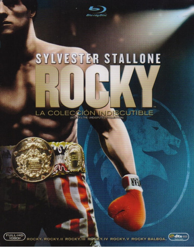rocky 1 - 6 colección indiscutible boxset peliculas blu-ray