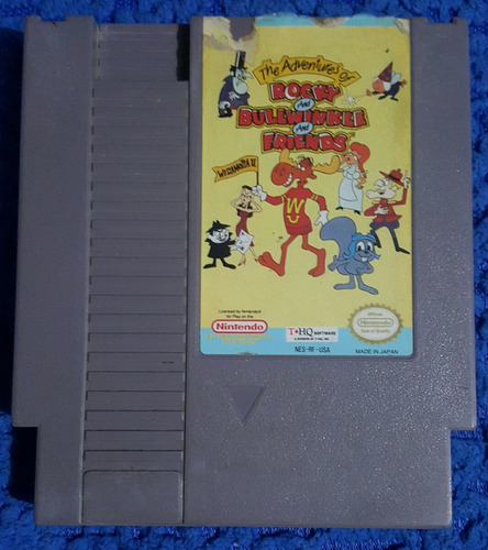 rocky and bullwinkle and friends con caja para nintendo nes