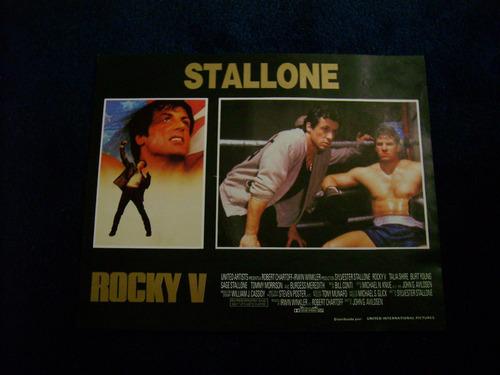 rocky v sylvester stallone  lobby card cartel poster c 21.11