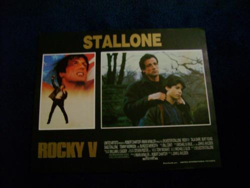 rocky v sylvester stallone  lobby card cartel poster e 21.9