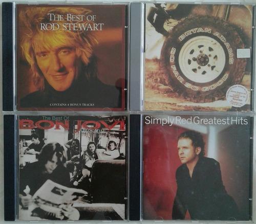 rod stewart / bryan adams / bon jovi / simply red -cds
