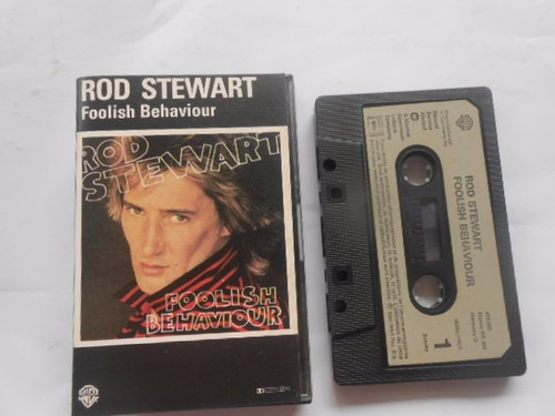 rod stewart foolish behaviour fita cassete original germany