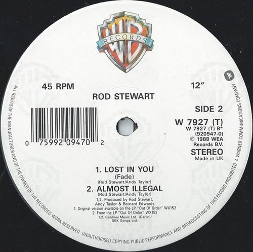 rod stewart lost in you (extended) maxi-single rock dj 80's