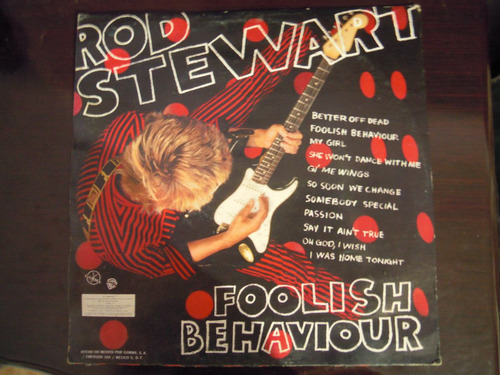 rod stewart vinyl foolish be haviour