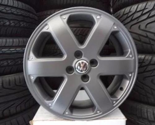 roda 15 parati track & field prata e grafit com pneu novo