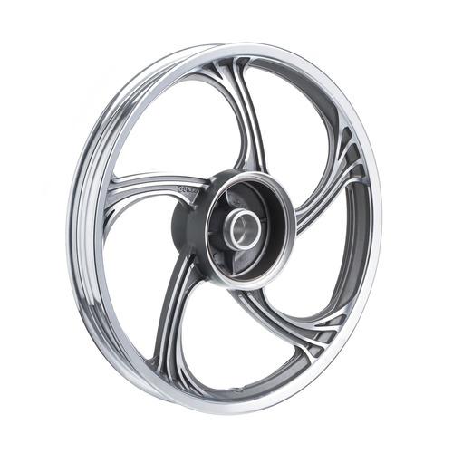 roda aluminio traseira temco icarus cinza ybr 125 ks/es-
