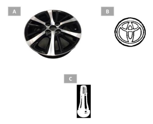 roda aro 15  yaris com acabamento dual tone - original toyot