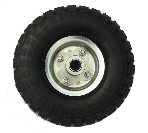 roda aro 4 c/ câmara e pneu para carrinho de mão kart cross