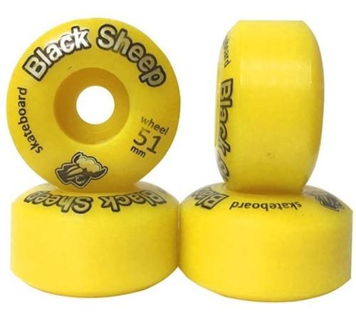 roda black sheep bs color 51mm vermelho skate profissional