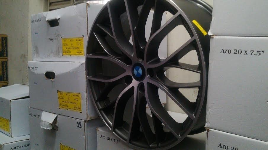 Roda Bmw 335 Aro 17 4/5 Furos Vectra Onix Megane+pneus - R ...