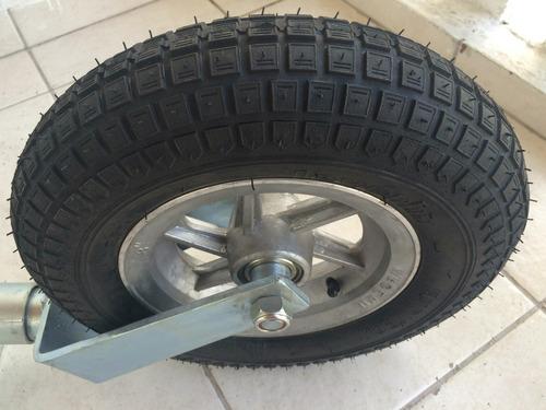 roda boba 5ª roda - pedestal c/ roda pneu carreta e trailer