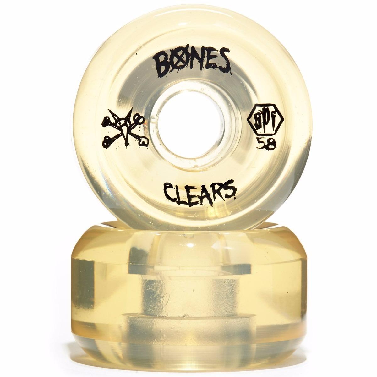 Roda Bones Clear 56mm Natural Skatepark Formua - R  220 bdcb86e8a03