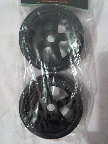 roda c/ pneu sclick sintec st preto-17mm- cod-s092