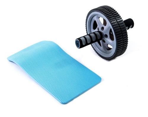 roda de abdominal e lombar com tapete ginastica perder peso