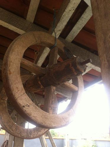 roda de carrinho de mão antigo madeira frete grátis