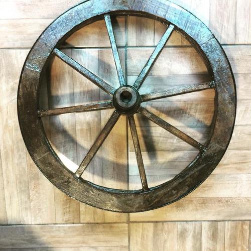 roda de carroça decorativa ( antiquário fernantillo )
