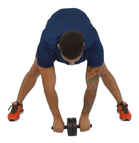 roda de exercícios polimet (ab wheel)