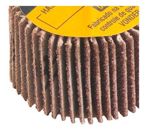 roda de lixa 30mm x 20mm com haste grão 220 vonder
