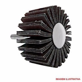 roda de lixa com pino p/furadeira 50 x 25 x 50 com 5 pçs