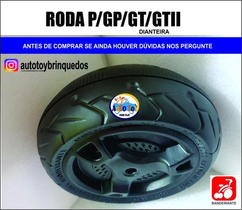roda dianteira p/ motos gp, gt ou gt2 bandeirante (1 roda)