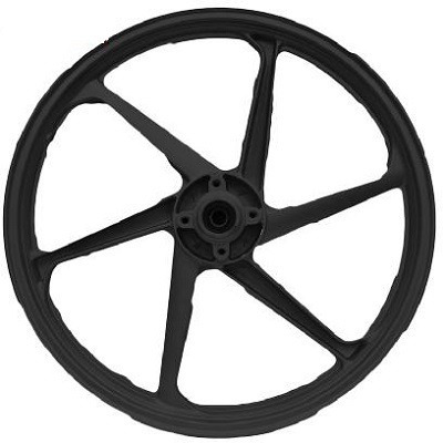 roda esportiva preta (modelo mix) titan 150 (tambor) fan e m