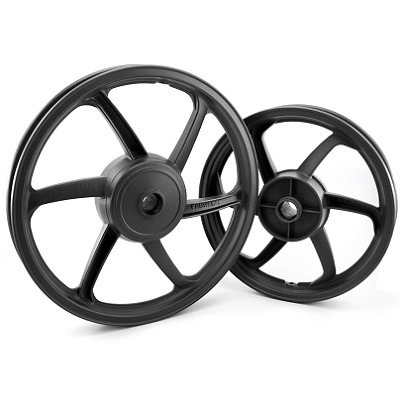 roda esportiva preta (modelo sport mix) fabreck titan 150 (t