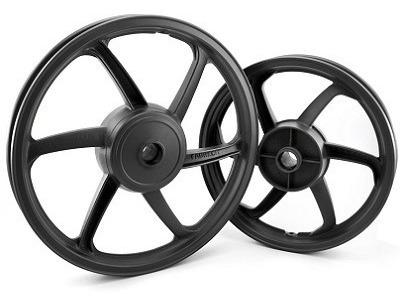 roda esportiva preta (modelo sport mix) fan 125 09/13 es (di