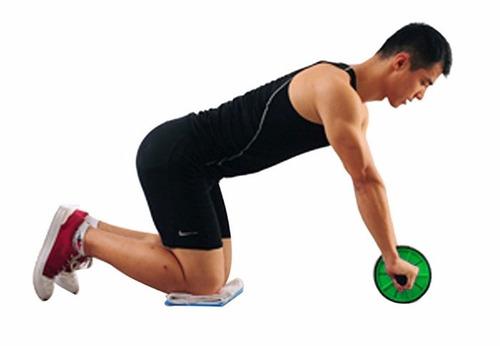 roda exercício abdominal desmontável exercise wheel verde