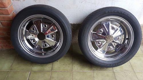 roda fumagalli cromada para fusca com pneu