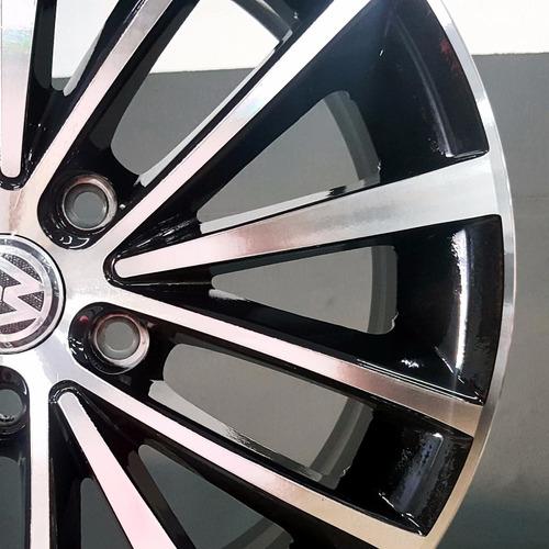 roda jetta tsi diamantada com fundo preto aro 17