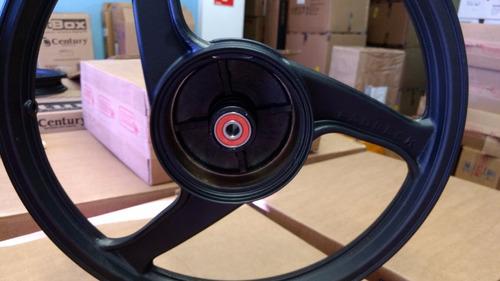 roda liga leve dianteira 3 palitos biz 125 + rolamentos