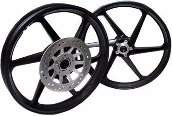 roda liga leve (par)+freio disco traseiro cg150 titan scud *
