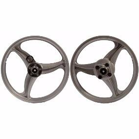 roda liga leve titan 125 disco 00 até 08 3 pontas prata scud