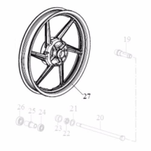 roda liga leve traseira apache 150 peça original dafra motos