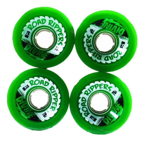 roda longboard road ripper divine green 70mm 78a