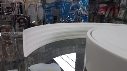 roda meio eva adesivada e flexivel *urânio5cmx5mm* 9 metros