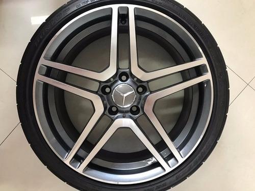 roda mercedes amg 19 com pneus dunlop 245 35 r19