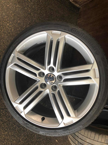 roda oem vw scirocco c/ pneus continental 235/35 r19 novos