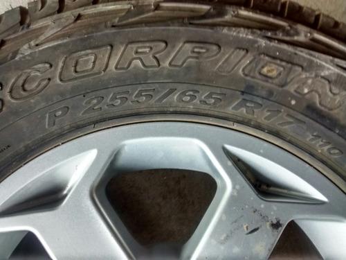 roda pajeiro l200 com pneu original r17