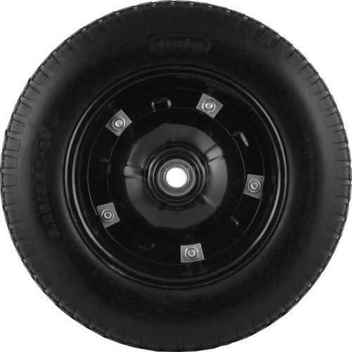 roda p/carrinho com pneu maciço  furo 3/4 ou 5/8 - vonder