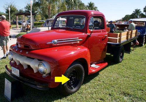 roda pick up ford f-3 1948 à 1952 16x6pol original usada