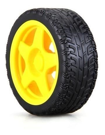 roda pneu motor + caixa de redução smart car arduino
