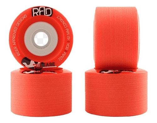 roda rad glide 70mm 80a vermelha