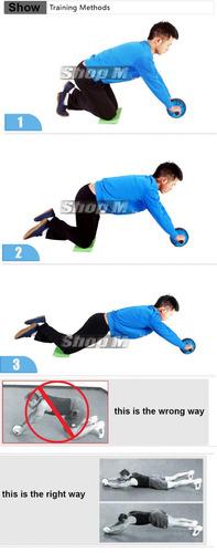 roda rolinho de exercícios abdominal + corda de pular liveup