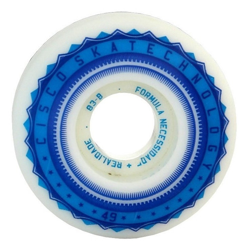 roda skate street cisco fn+r sky 49mm 83b